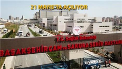 Başakşehir Çam ve Sakura Hastanesi'nin tabelası asıldı