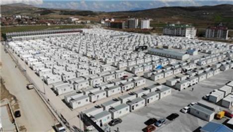 Elazığ'da bin 640 aile konteyner kentlere yerleşti