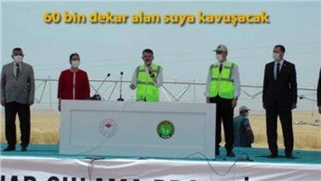 TİGEM Ceylanpınar Sulama Projesi açıldı