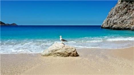 Kaputaş Plajı martılara kaldı