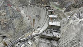 Yusufeli Barajı'nın gövde yüksekliği 205 metreye ulaştı