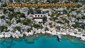 48 saatte Kekova Koyu'na kaçak villa yaptılar!