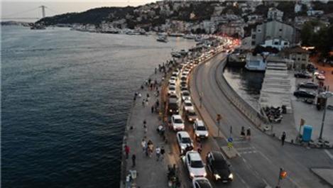 İstanbullular Bebek Sahili'ne akın etti