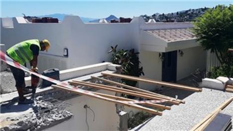 Yılmaz Özdil ve Can Dündar'ın kaçak villalarında yıkımlar sürüyor