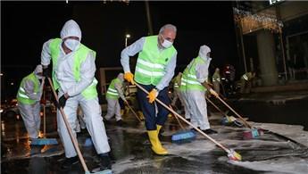 İsmet Yıldırım, Ümraniye'de cadde temizleme çalışmalarına katıldı