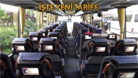 Otobüs biletleri için yeni ücret tarifesi açıklandı