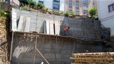 İslambey'deki perde duvar tamamlanıyor