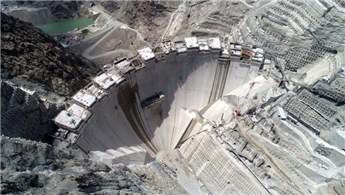 Yusufeli Barajı'nın gövde yüksekliği 210 metreye ulaştı
