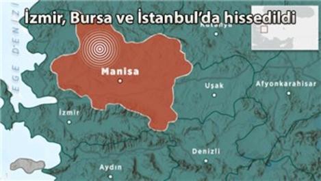Manisa'da 5.5 büyüklüğünde deprem!