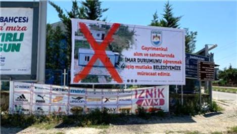 İznik'de belediyeden konteyner uyarısı