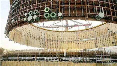 Akkuyu'da iç kaplama montajı tamamlandı
