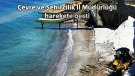 Bodrum'da plajlara kuvars kumu serildiği ortaya çıktı