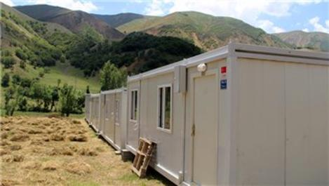 Bingöl'de deprem bölgesinde 188 adet konteyner kuruldu