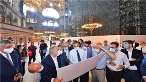 Ayasofya Camisi'nde hazırlıklar aralıksız sürüyor!