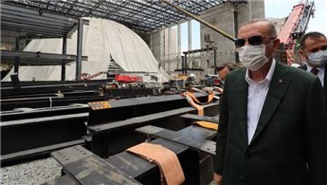 Başkan Erdoğan, Taksim Camisi ve AKM inşaatını inceledi