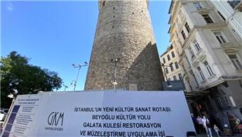 Ebabil kuşları için Galata Kulesi'nde iskeleler söküldü