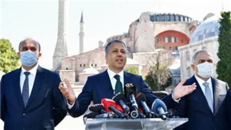 Vali Yerlikaya Ayasofya Camii açılışında tedbirleri açıkladı