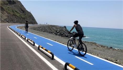 Hatay'daki dünyanın en uzun bisiklet yolu büyük ilgi görüyor