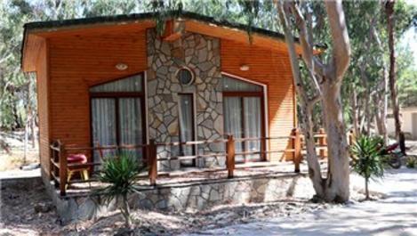 Adana'da bungalov evler ve karavanlar tatilcileri bekliyor