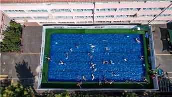 19 kente portatif yüzme havuzu