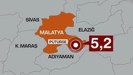 Malatya'da 5.2 büyüklüğünde deprem!