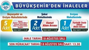 Kayseri Büyükşehir Belediyesi'nden üç ihale birden
