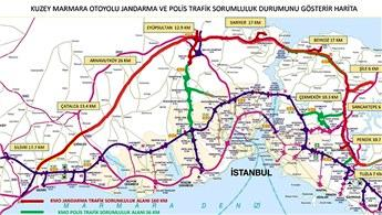 Kuzey Marmara Otoyolu'nun trafik hizmetleri Jandarma'ya emanet!