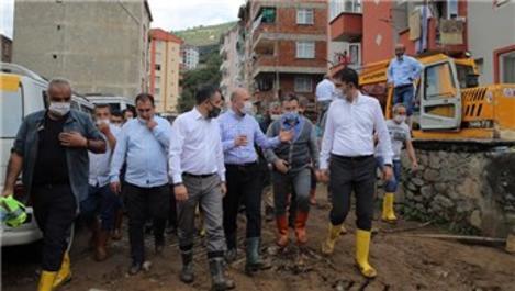 'Giresun Dereli'de hasar gören evlerin yıkımına başlıyoruz'