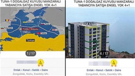 Zonguldak'ta Tuna-1 doğal gaz kuyusu manzaralı satılık daire