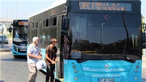 Antalya'da toplu ulaşımda yolcu kapasitesi 175 bine düştü