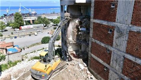 Çömlekçi'de kamulaştırma sonrasında yıkımlar yeniden başladı