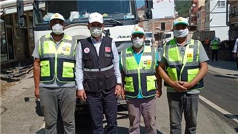 Bakan Soylu ve Kurum, Giresun'da Konya ekiplerini ziyaret etti