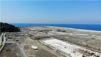 Rize-Artvin Havalimanı'nın yüzde 76'sı bitti!