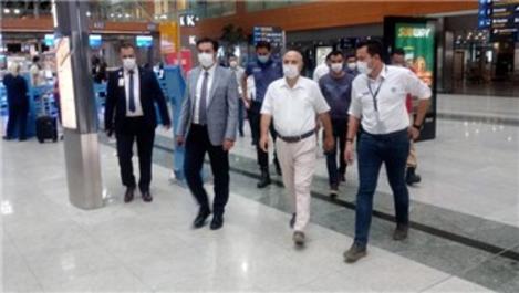 Sabiha Gökçen Havalimanı'nda Covid-19 denetlemesi