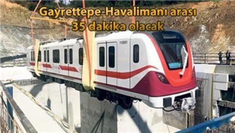 İstanbul Havalimanı metrosu raya indi