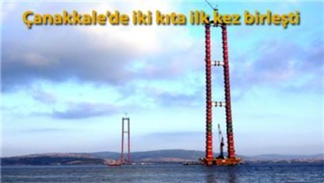 1915 Çanakkale Köprüsü'nde geçici çalışma halatı montajı başladı