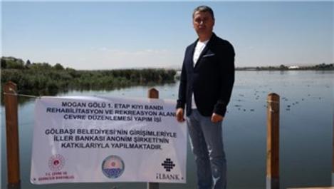 Mogan Gölü çevre düzenlemesi Ekim ayında tamamlanacak