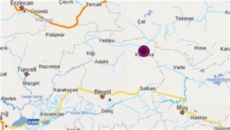 Bingöl'de 3.5 ve 4.1 büyüklüğünde iki deprem!