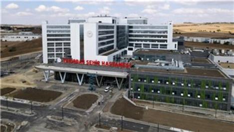Tekirdağ Şehir Hastanesi hizmete girmek için gün sayıyor