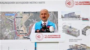 """""""Başakşehir-Kayaşehir Metrosu'nu bakanlık olarak üzerimize aldık"""""""