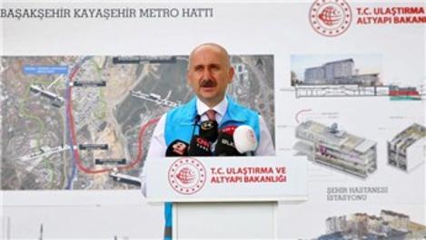 """'Başakşehir-Kayaşehir Metrosu'nu bakanlık olarak üzerimize aldık"""""""