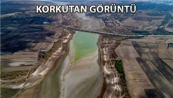 Sazlıdere Barajı'nın su seviyesi yüzde 11,23'e indi