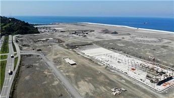 Rize-Artvin Havalimanı'nın dolgusu yıl sonunda bitecek