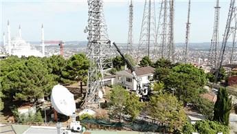 Çamlıca'daki anten vericileri sökülmeye devam ediyor