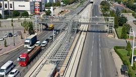 Bursa T2 tramvay hattında çalışmalar hızlandı