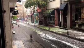 İstanbul'da dolu yağışı etkili oluyor