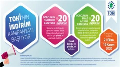 TOKİ'den 2020'ye özel büyük indirim kampanyası!