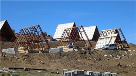 Yıldız Dağı Kayak Merkezi'ne bungalov evler yapılıyor