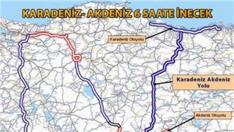 Karadeniz- Akdeniz Otoyolu'nun yüzde 84'ü tamamlandı