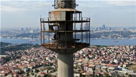 TRT verici kulesinde söküm çalışmaları başladı